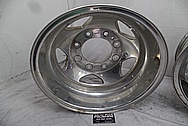 Aluminum Truck Wheels BEFORE Chrome-Like Metal Polishing - Aluminum Polishing Services - Wheel Polishing Services