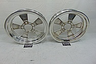 American Racing Aluminin Drag Racing Wheels BEFORE Chrome-Like Metal Polishing - Aluminum Polishing Services