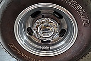 Ford 3500 Series Platinum Edition Truck Aluminum Wheels BEFORE Chrome-Like Metal Polishing - Aluminum Polishing Services