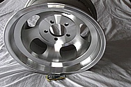 1969 Javelin AMX Aluminum Wheels BEFORE Chrome-Like Metal Polishing and Buffing Services