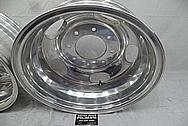 Ford 3500 Series Platinum Edition Truck Aluminum Wheels BEFORE Chrome-Like Metal Polishing - Aluminum Polishing Services
