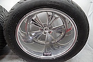 1932 Roadster Boyd Coddington Aluminum Wheels BEFORE Chrome-Like Metal Polishing and Buffing Services PLUS High Quality Ceramic Coating - Aluminum Polishing Services
