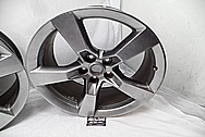 2012 Chevy Camaro SS Aluminum Wheels BEFORE Chrome-Like Metal Polishing and Buffing Services - Aluminum Polishing - Wheel Polishing