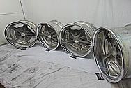 Aluminum Snowflake Wheels BEFORE Chrome-Like Metal Polishing and Buffing Services - Aluminum Polishing - Wheel Polishing