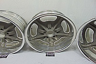 Aluminum Snowflake Wheels BEFORE Chrome-Like Metal Polishing and Buffing Services - Aluminum Polishing - Wheel Polishing