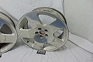 Aluminum 5 Star Wheels BEFORE Chrome-Like Metal Polishing and Buffing Services - Aluminum Polishing - Wheel Polishing