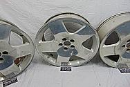 Aluminum 5 Star Wheels BEFORE Chrome-Like Metal Polishing and Buffing Services - Aluminum Polishing - Wheel Polishing