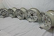 Aluminum 10 Hole Wheels BEFORE Chrome-Like Metal Polishing and Buffing Services - Aluminum Polishing - Wheel Polishing