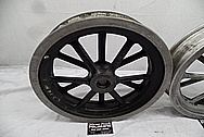 Halibrand Magnesium Wheels BEFORE Chrome-Like Metal Polishing and Buffing Services / Restoration Services - Magnesium Polishing