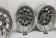 Aluminum Wheels BEFORE Chrome-Like Metal Polishing and Buffing Services / Restoration Services - Wheel Polishing