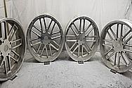 Razor All Terrain Vehicle Aluminum Wheels BEFORE Chrome-Like Metal Polishing - Aluminum Polishing