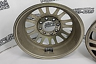 Aluminum Truck Wheels BEFORE Chrome-Like Metal Polishing and Buffing Services - Aluminum Polishing Services - Wheel Polishing