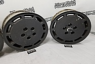 Ford Mustang Aluminum Wheels BEFORE Chrome-Like Metal Polishing - Aluminum Polishing Services