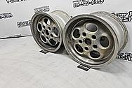 Porsche Aluminum Wheels BEFORE Chrome-Like Metal Polishing and Buffing Services - Aluminum Polishing - Wheel Polishing
