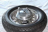 Aluminum Motorcycle Wheel and Hub BEFORE Chrome-Like Metal Polishing and Buffing Services / Restoration Services