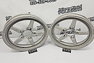 Weld Racing Forged USA Aluminum Wheels BEFORE Chrome-Like Metal Polishing and Buffing Services - Aluminum Polishing Services - Wheel Polishing