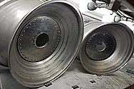 """Aluminum Truck Pulling 32"""" Wheels BEFORE Chrome-Like Metal Polishing and Buffing Services - Aluminum Polishing Services - Wheel Polishing"""