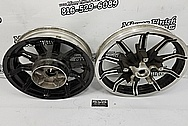 Harley Davidson Aluminum Motorcycle Wheels BEFORE Chrome-Like Metal Polishing and Buffing Services - Aluminum Polishing Services - Wheel Polishing