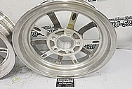 Aluminum Motorcycle Wheels BEFORE Chrome-Like Metal Polishing and Buffing Services - Aluminum Polishing - Wheel Polishing