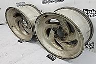 Aluminum Wheels BEFORE Chrome-Like Metal Polishing and Buffing Services / Restoration Services - Wheel Polishing