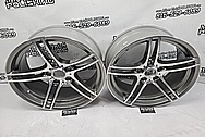 BMW Aluminum Wheels BEFORE Chrome-Like Metal Polishing and Buffing Services / Restoration Services - Wheel Polishing
