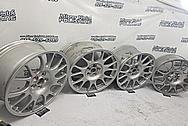 BBS Aluminum Mesh Style Wheels BEFORE Chrome-Like Metal Polishing - Aluminum Polishing - Wheel Polishing