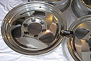 Aluminum Billet Specialties Wheels BEFORE Chrome-Like Metal Polishing and Buffing Services / Restoration Services