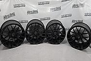 BMW Aluminum Wheels BEFORE Chrome-Like Metal Polishing - Aluminum Polishing - Wheel Polishing Service