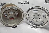 Fenton Gyro Slots Aluminum Wheels BEFORE Chrome-Like Metal Polishing - Aluminum Polishing - Wheel Polishing Services