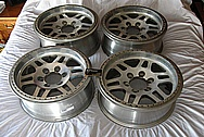 Aluminum Vehicle Wheels BEFORE Chrome-Like Metal Polishing and Buffing Services / Restoration Services
