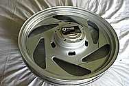 Aluminum Motorcycle Wheel BEFORE Chrome-Like Metal Polishing and Buffing Services / Restoration Services