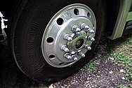 2003 Newmar Dutch Star RV Aluminum Wheels BEFORE Chrome-Like Metal Polishing and Buffing Services / Restoration Services