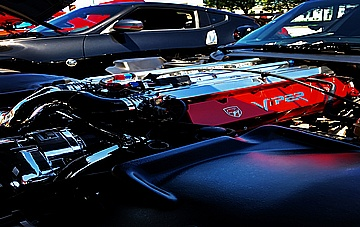 Anthony's 1999 Dodge Viper GTS ACR, Supercharged, 1,000 Horsepower Engine Compartment AFTER Full Metal Polishing