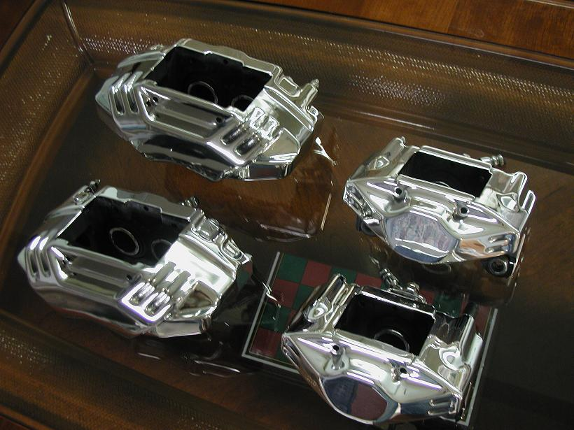 Polished Steel Brake Calipers