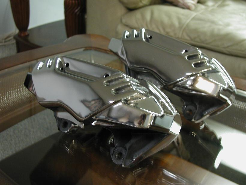 More Steel Polished Brake Calipers.