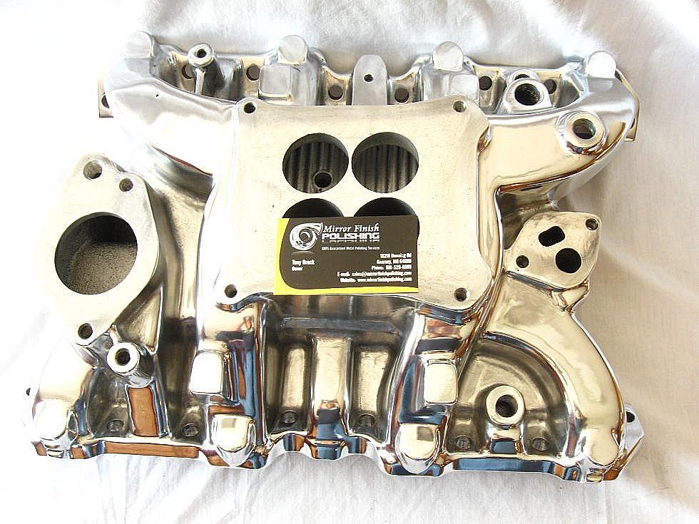 Intake Manifold Metal Polishing & Buffing Services | Mirror Finish
