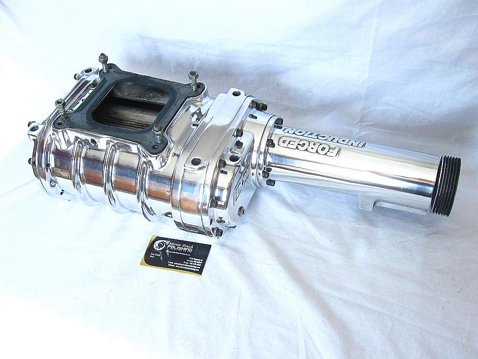 Forced Induction Aluminum Supercharger Er After Custom Metal Polishing And Buffing Services