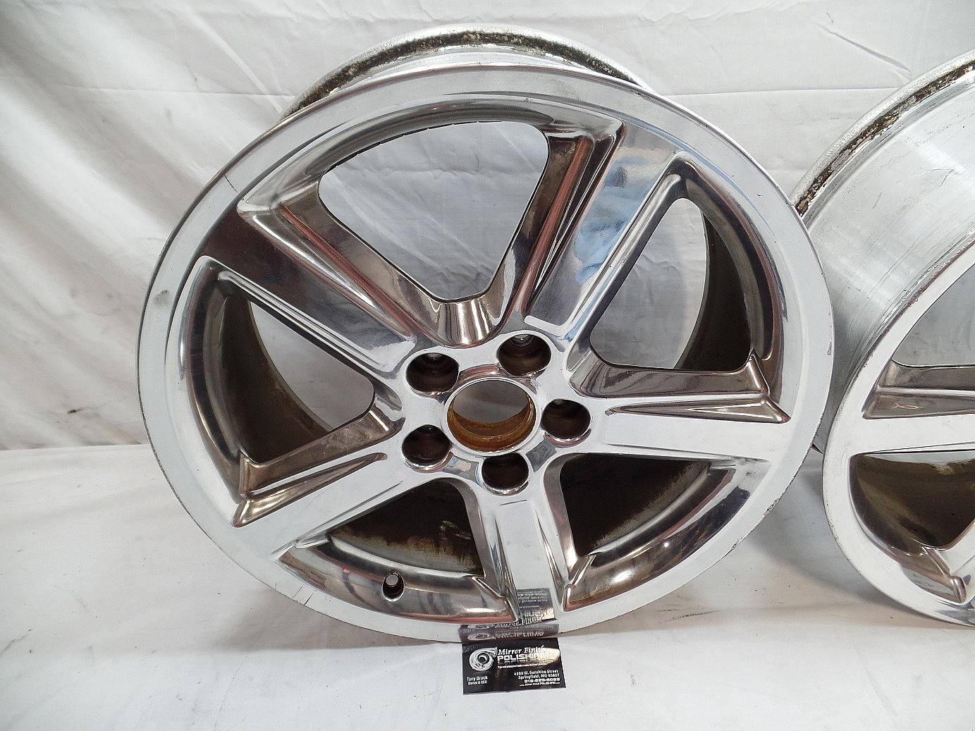 Chrome plated wheels after custom metal polishing services mitsu media - Decorative chrome plating ...