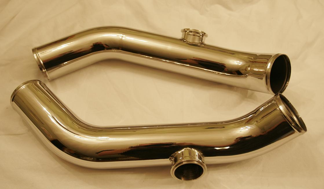 CHROME-LIKE POLISHING PARTS ALUMINUM INTERCOOLER PIPING