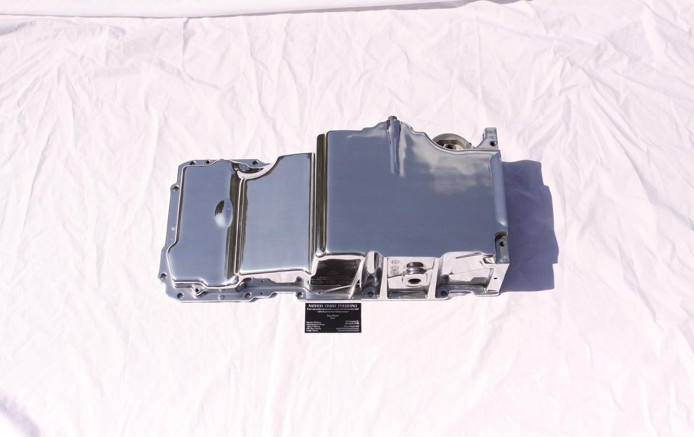Chevy LS1 V8 5.7L Camaro Aluminum Oil Pan AFTER Chrome-Like Metal Polishing and Buffing Services